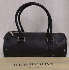 Authentic Burberry London Black Pebbled Leather Satchel with Cover