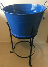 Brand New blue Steel Bowl Bucket Champagne Wine beverage Cooler Bucket AU SELLER