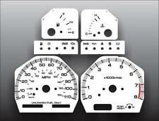 Fits 1991-1994 Nissan 240SX 110 Mph Dash Instrument Cluster White Face Gauges