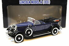 1:18 Ricko Lincoln Model K 1931 blue with box bei PREMIUM-MODELCARS