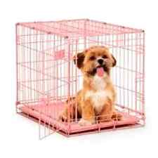 Portable Travel Single Door Dog Puppy iCrate Cage 24-Inch Small Pink New
