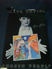 DAVE DAVIES THE KINKS SIGNED POSTER