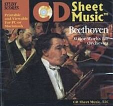 Major Works For Orchestra Beethoven Study Scores CD Sheet Music #11D164