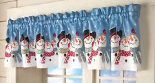 Frosty & Friends Snowman Window Valance, by Collections Etc