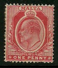 Album Treasures Malta Scott # 32  1p Edward VII Mint Hinged