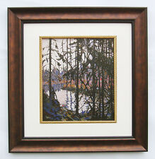 """Tom Thomson, Group of Seven """"Northern River"""" in dark Brown frame"""