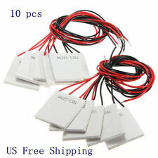 10Pcs TEC1-12706 Thermoelectric Cooler Heat Sink Cooling Peltier Plate Module 6A