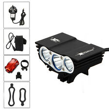 SolarStorm 6000 Lumen 3x CREE T6 LED Front Bicycle Light Bike Headlamp Headlight
