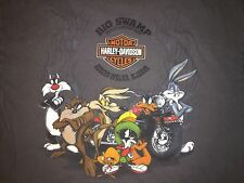 Harley Davidson Looney Tunes Dealer T-Shirt Big Swamp Auburn-Opelika Alabama