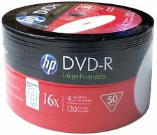 200 New HP 16X White Inkjet Hub Printable 4.7GB DVD-R [FREE USPS PRIORITY MAIL]