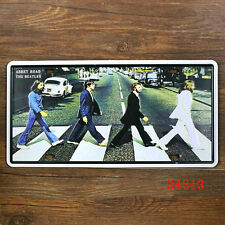 The Beatles Abbey Road Metal Sign Tin - 30x15cm
