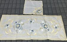 2 Handmade Tablecloths Coffee Table Runner Cloth set Armenian Embroidered