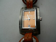 Fossil women's Brown leather band,quartz,battery & water resistant watch.Es-1121