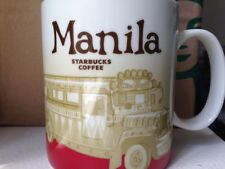 NEW Starbucks MANILA JEEPNEY Philippines city Icon 16 oz mug RARE DISCONTINUED