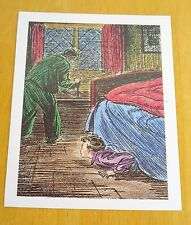 THE FAMOUS FIVE POSTCARD ~ FIVE HIDE UNDER THE BED ~ ENID BLYTON ~ NEW