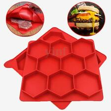 Silicone 8 in 1 Innovative Burger Press Master Hamburger Patty Container Mould