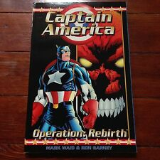 Captain America Operation: Rebirth trade paperback signed Mark Waid