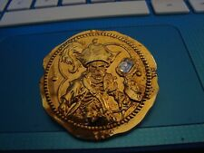 Pirates of the Caribbean - Gold Coin Disney Pin with Clear Stone, WDW