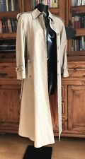 Womens Long Smart Trench Mac Style Coat / Jacket Cream Regent Street Aquascutum