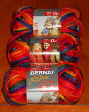 Bernat Softee Chunky Yarn Lot Of 3 Skeins (School Yard #29134)