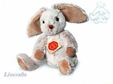 Sitting Floppy Beige/Grey Bunny Plush Soft Toy by Teddy Hermann Collection.93853