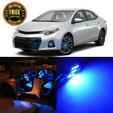 8Pcs New Premium Blue LED Interior Package Fit 2012-2015 Toyota Corolla