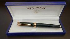 WATERMAN L'ETALON GREEN  LACQUER &  GOLD TRIM   ROLLERBALL  PEN NEW IN BOX