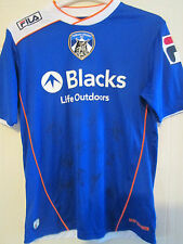 Oldham Athletic 2013-14 Squad Signed Home Football Shirt FLT letter coa /39542