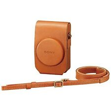 New Sony Soft Leather Camera Case LCS-RXG-T Brown Shoulder Strap for RX100