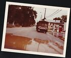 Vintage Photograph Sightseeing Bus Passing In Front of Phillips Gas Station 1978