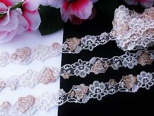 Very Prety Venise  flower embroidery lace trim - price for 1 yard