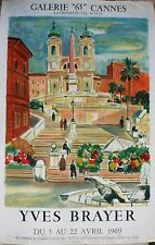 YVES*BRAYER*AFFICHE*LITHO*MOURLOT*CANNES*1969*ART*MUSEE*RARE*COLLECTOR