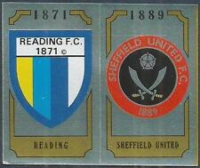 PANINI FOOTBALL 88-#431-A-B-SHEFFIELD UNITED / READING TEAM BADGES-FOILS
