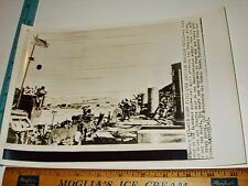 Rare Historical Original VTG WWII Old Glory Flag Flies Over Sicily Forces Photo