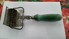 Vintage pasta cutter w/ green handle 1940's era for use or wall Décor