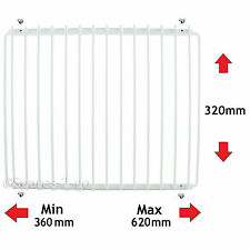 SMEG Fridge Shelf White Plastic Coated Adjustable Freezer Rack Extendable 62cm