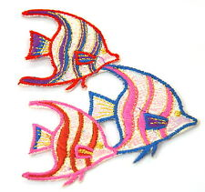 ANGEL FISH MARINE TROPICAL Embroidered Sew Iron On Cloth Patch Badge APPLIQUE