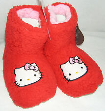 Hello Kitty Slipper Booties RED PLUSH VALENTINE GIFT FREE SHIPPING LARGE 9-10