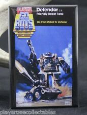 "Gobots Defendor Blister Pack Card  2"" X 3"" Fridge / Locker Magnet. Tonka"