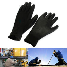 1 Pair PU Palm Coated Coating Protective Safety Anti Static Builders Work Gloves