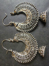 Indian Gold Plated Ethnic Bridal Party Fashion Silver Jhumka Earring Jewelry,,,,