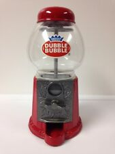 Vintage Dubble Bubble Gum Ball Machine Coin Bank (Red) Metal, Plastic