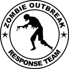 Zombie brote equipo de respuesta Funny car/ipad Jdm Vw Euro Vinilo Autoadhesiva De 10