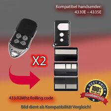 2X Handsender 433.92 MHz für 4330E,4333E,4335E,4330EML,4333EML,4335EML Antriebe