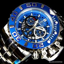 Invicta Sea Hunter III Blue 70mm Full Sized Steel Swiss Chronograph Watch New