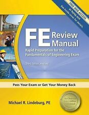 FE Review Manual, 3rd Edition Revised, Michael R. Lindeburg - LIKE NEW