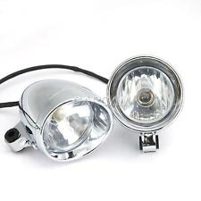 "2x 4"" CHROME FRONT Headlight For Harley Davidson Dyna Glide Fat Bob Street Bob"