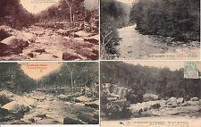 Lot 4 cartes postales anciennes LE MORVAN cure en forêt chenue