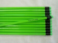 24 Hexagon NEON Green Personalized Pencils