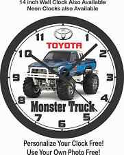 TOYOTA PICKUP MONSTER TRUCK WALL CLOCK-FREE USA SHIP!